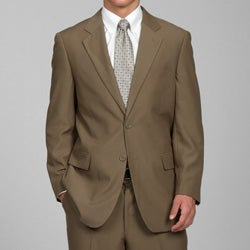 Men's Solid Taupe 2-button Suit