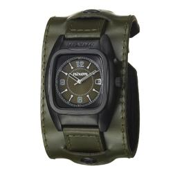 Nixon Men's 'The Rocker' Stainless Steel and Green Leather Quartz Watch