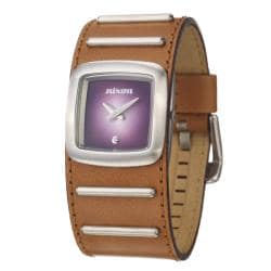 Nixon Women's 'The Duchess' Stainless Steel and Leather Quartz Watch