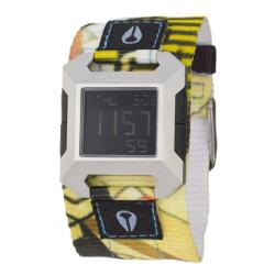 Nixon Men's 'The Block' Stainless Steel, Fabric Digital Quartz Watch