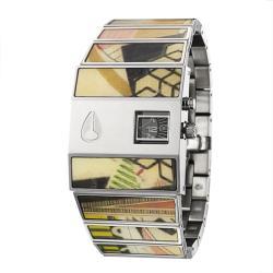 Nixon Men's 'The Rotolog' Stainless Steel Quartz Watch
