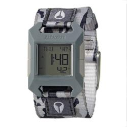 Nixon Women's 'The Fidelity' Fabric Digital Quartz Strap Watch