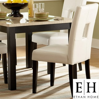 ETHAN HOME Mendoza White Keyhole Back Dining Chair (Set of 2)