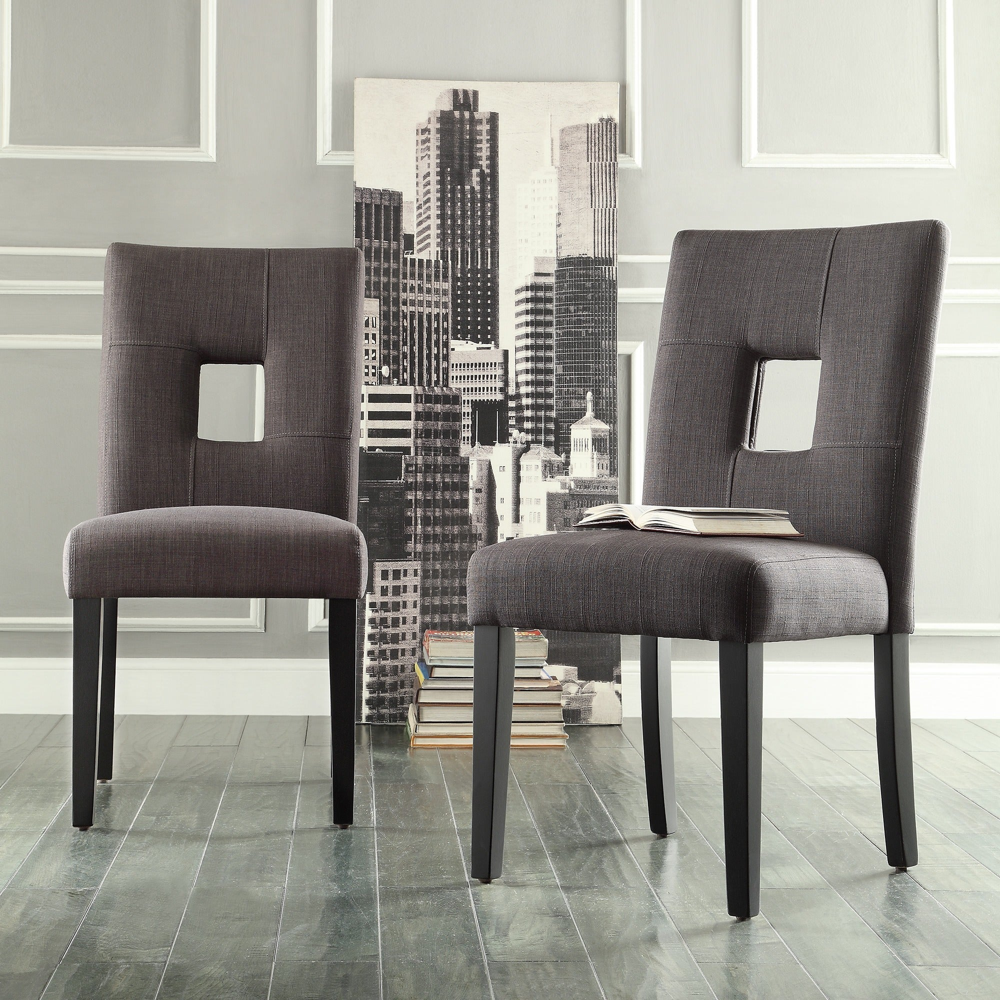 Mendoza Keyhole Back Dining Chairs Set of 2 by iNSPIRE Q Bold eBay