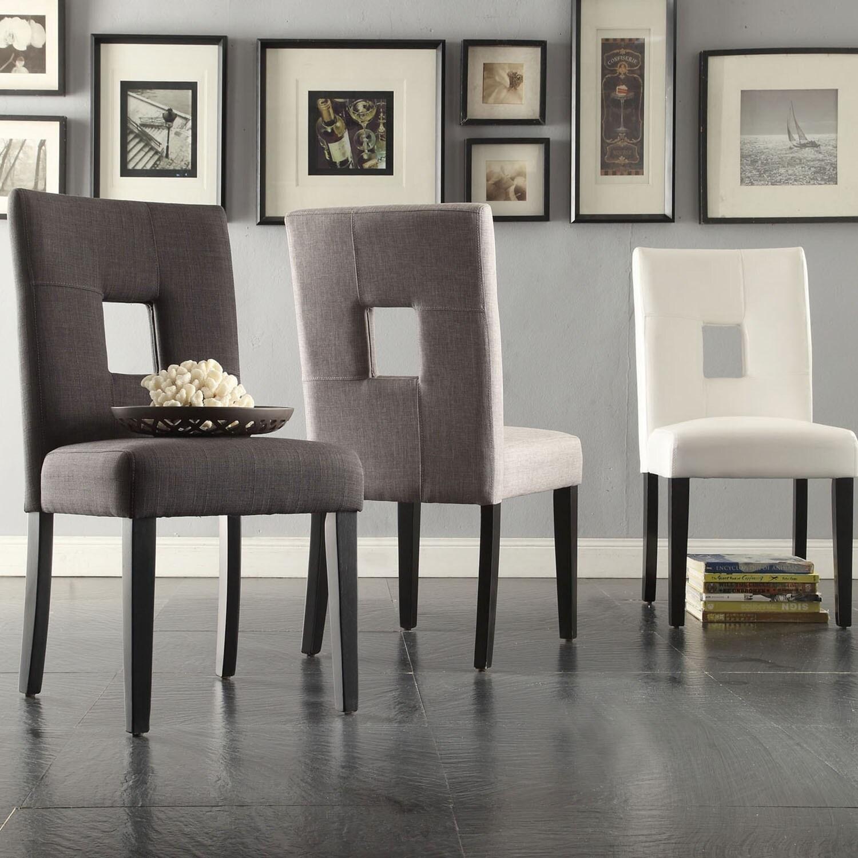 Beau TRIBECCA HOME Mendoza Keyhole Back Dining Chairs Detail