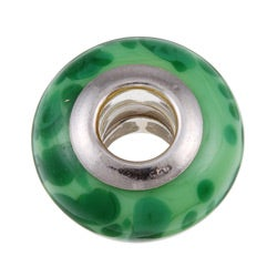 Sterling Essentials Sterling Silver Granito Murano Glass Bead