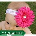 Lace Rhinestone Daisy Headband