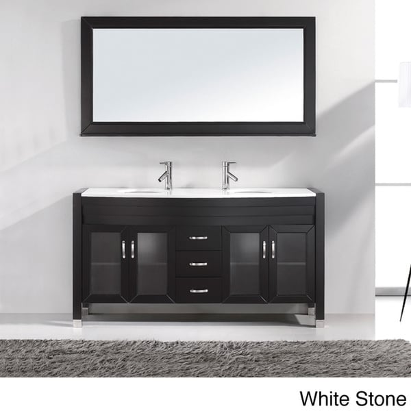 Virtu USA Ava 63-inch Double Sink Bathroom Vanity Set