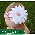 Crochet Fancy Rhinestone Daisy Headband