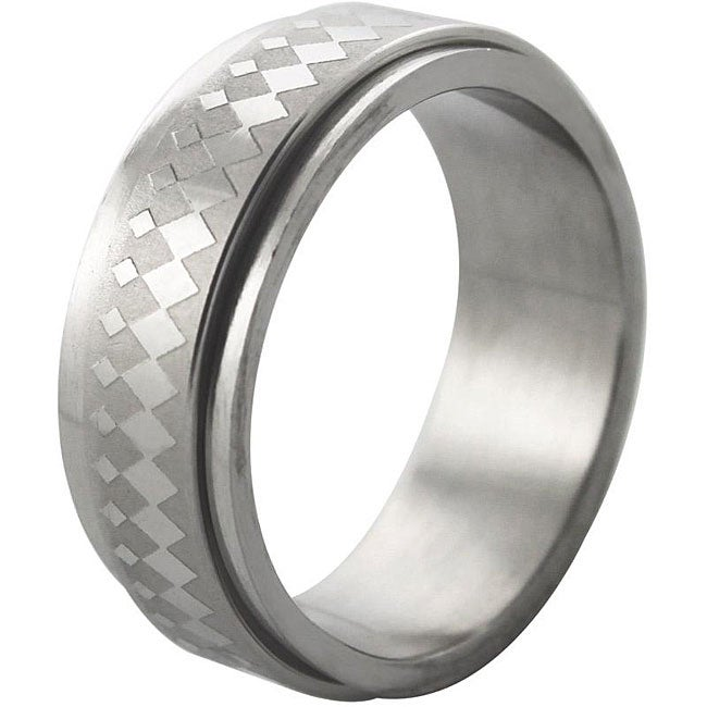 Stainless Steel Mardi Gras Spinner Ring