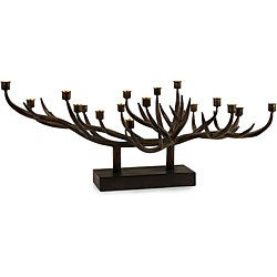 Handcrafted Iron Regent Antler Candle Holder
