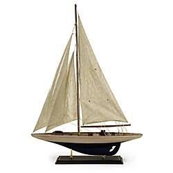 Handcrafted Americana Birchwood Atlantis Sail Boat