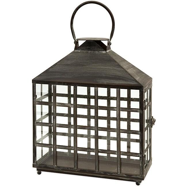 Regent Lattice Window Wide Candle Lantern