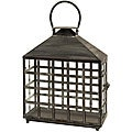 Regent Lattice Window Wide Candle Lantern