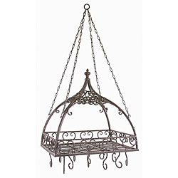 Provence Pot Rack with Hooks