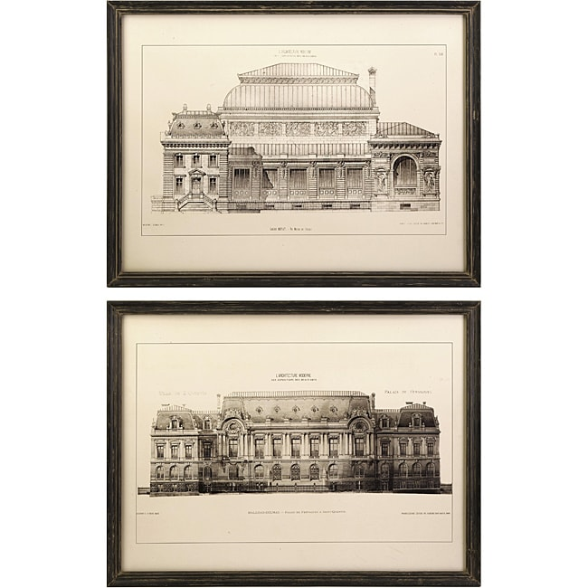 Set of 2 Bordeaux Argento Framed Wall Prints