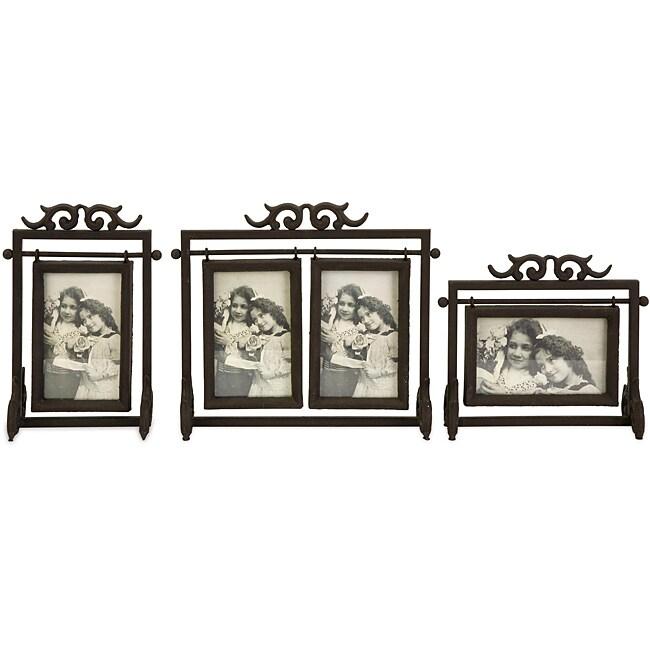 Set of 3 Iron Old Spanish Mission Hacienda Photo Frames