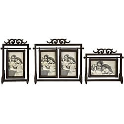 Set of 3 Iron Old Spanish Mission Hacienda Photo Frames