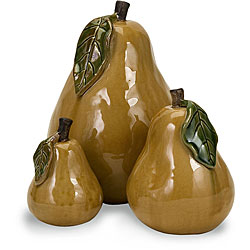 Set of 3 Ceramic 'Summer's Bounty' Pears