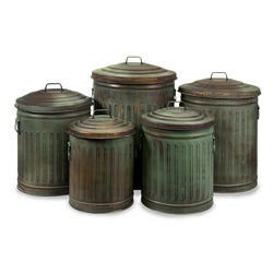 Set of 5 Americana Hidden Treasures Storage Containers