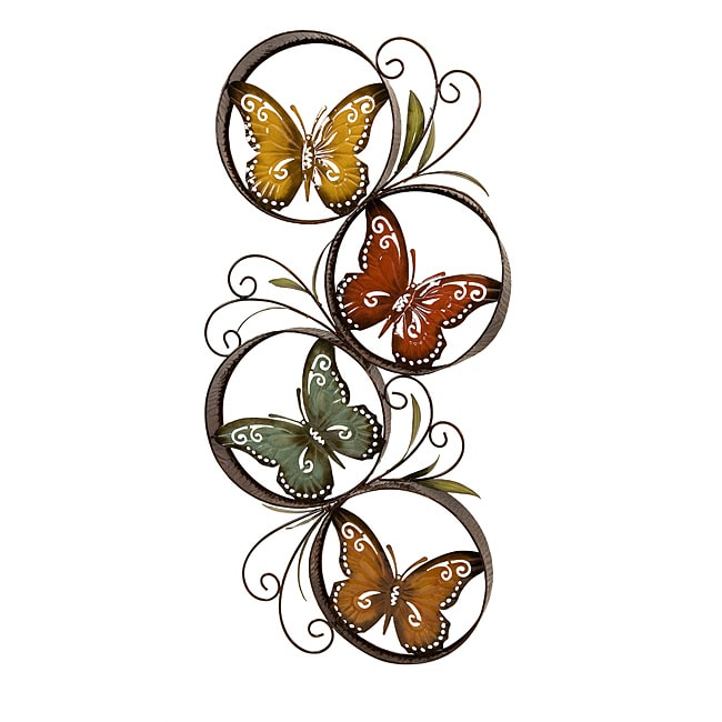 metal colorful butterfly wall decor overstock shopping great deals on accent pieces. Black Bedroom Furniture Sets. Home Design Ideas