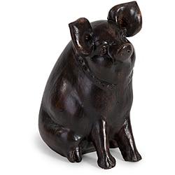 Handcrafted Americana Barnyard Friends Pig Figurine
