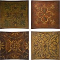 Provence French Country 4-piece Wall Tile Display