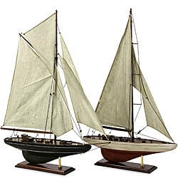 Set of 2 Americana Nautilus Sail Boats