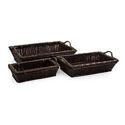 Set of 3 Willow Americana Jamestown Large Slat Trays