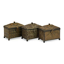 Set of 3 Iron Portofino Renaissance Boxes