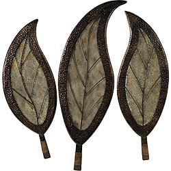 Set of 3 Infinity Leaf Design Wall Decor