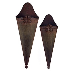Set of 2 Old Spanish Mission Metal Wall Sconces