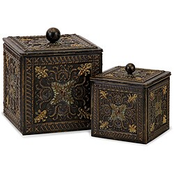 Set of 2 Venice Lidded Treasure Boxes