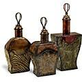 Set of 3 Iron Venice Potion Bottles