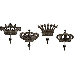 Set of 4 Argento Crown Royale Wall Hooks