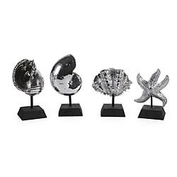 Regent Platinum Look Seashells (Set of 4)