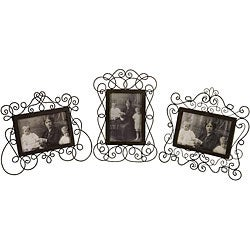 Set of 3 Iron Provence Marie Antoinette Picture Frames