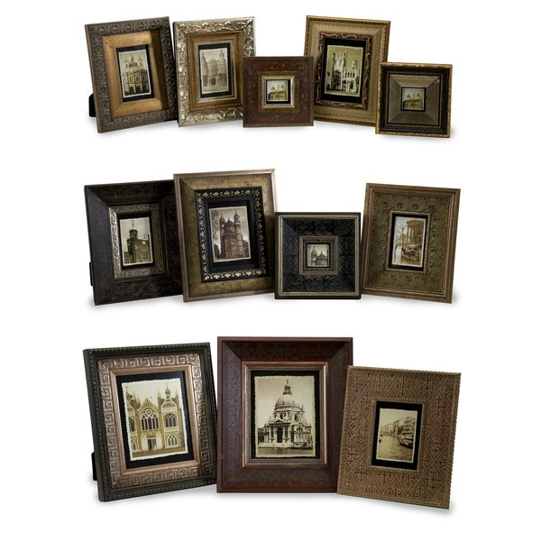 Set of 12 Antiqued Frames