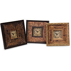 Set of 3 Venice-style a Tiempo Framed Clocks