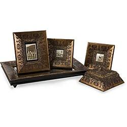 Set of 5 Venice Regal Antique Gold Framed Decorative Accessories