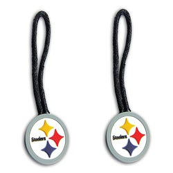 Pittsburgh Steelers Zipper Pull Charm Luggage/ Pet ID Tags (Set of 2)