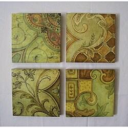 Canvas 4-piece Floral Wall Art