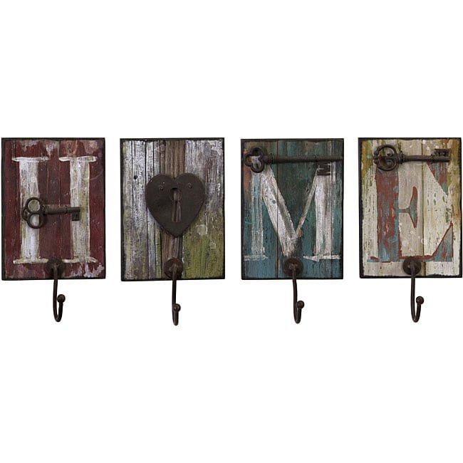 Set of 4 Iron Country Home and Hearth Wall Hangers