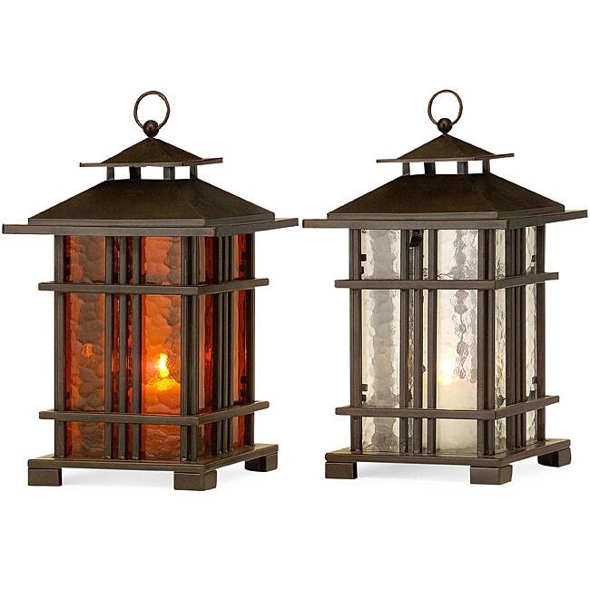 Set of 2 Iron Regent Teahouse Lanterns