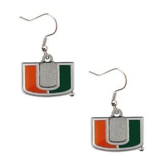 Miami Hurricanes Dangle Logo Earrings
