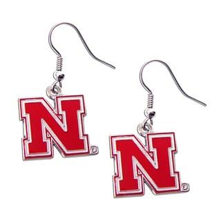 Nebraska Cornhuskers Dangle Logo Earrings