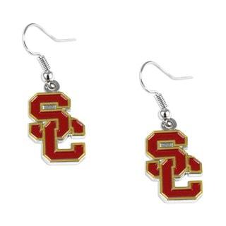 USC Trojans Southern California Dangle Logo Earrings