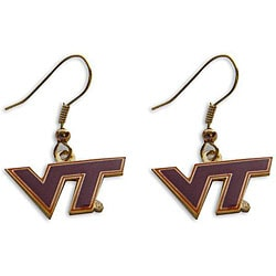 Virginia Tech Hokies Dangle Logo Earrings