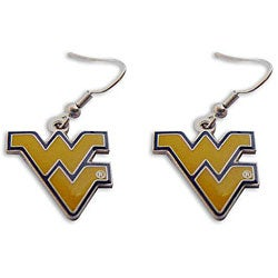 West Virginia Mountaineers Dangle Logo Earrings