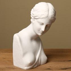 White Bonded Marble 10.5-inch Psyche Museum Replica Statue